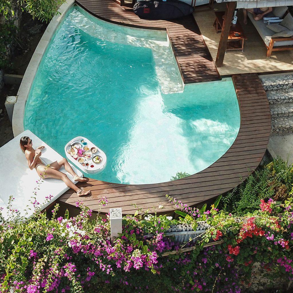 Floating Breakfast Blue Lagoon Avia Vilas